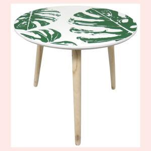 木製テーブル(モンステラ柄)|sshana
