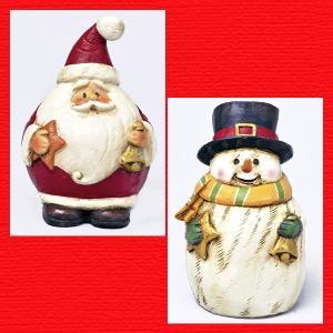 『クリスマス』レジン製カービングドール/2種類|sshana