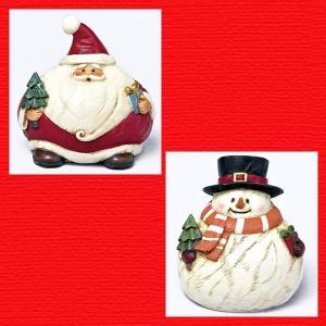 『クリスマス』レジン製カービングまんまるドール/2種類|sshana