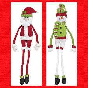 『クリスマス』ワイヤー入りクネクネドール(ニット)/2種類|sshana