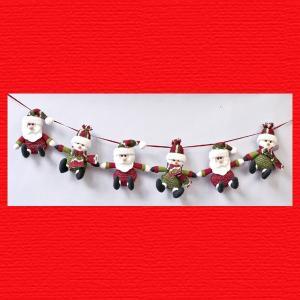 『クリスマス』ループニットマスコットガーランド|sshana