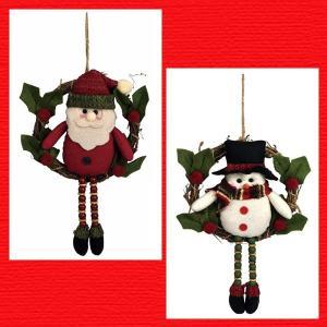 『クリスマス』足ぶらドールのリース/2種類|sshana