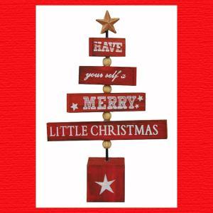 『クリスマス』木製リリックツリー|sshana