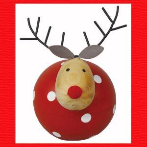 『クリスマス』木製ドットディア(レッド)|sshana