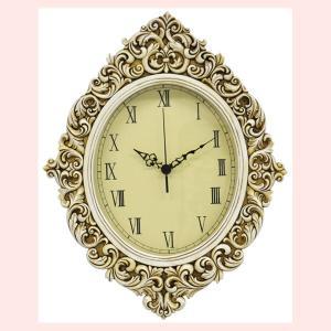 レジン製アンティーク調なオーバル壁掛け時計(BTC1390)|sshana