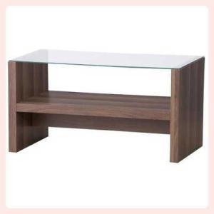 ガラスのカフェテーブル(CAT-BR)/ブラウン|sshana