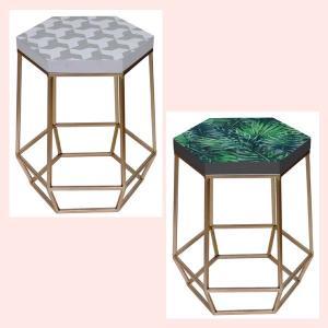 アートでオシャレなサイドテーブル/2種類|sshana