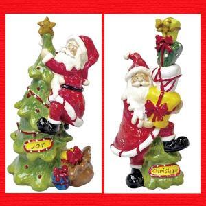 『クリスマス』レジン製サンタツリーの置物/2種類|sshana