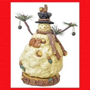 『クリスマス』ペーパーマッシュスノーマン|sshana