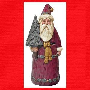 『クリスマス』レジン製ツリーを持ったサンタ|sshana