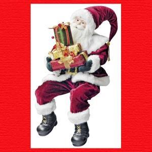『クリスマス』クラシックサンタドール(座り)|sshana