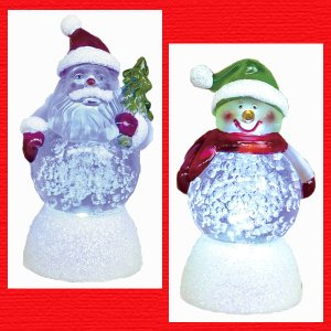 『クリスマス』アクリル製LEDバブルクリア/2種類|sshana