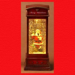 『クリスマス』電話ボックス型ウォータードームライト(サンタ)|sshana