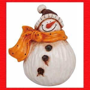 『クリスマス』レジン製の置物(プランプ/スノーマン)|sshana