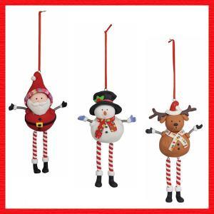 『クリスマス』クレイ製のハンギングドール/3種類|sshana