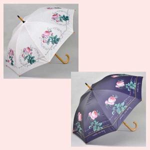 ローズデザインのジャンプ傘(ピエールジョゼフルドゥーテ)/2種類|sshana