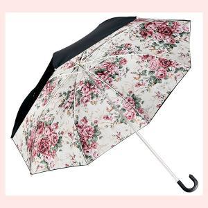 ローズ柄の晴雨兼用折りたたみ傘(ローズLEMON) sshana