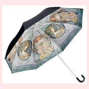 世界の名画晴雨兼用折りたたみ傘(ミュシャ/裏窓)|sshana
