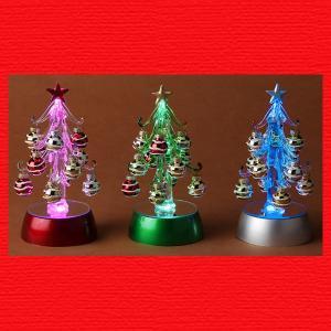 『クリスマス』RGB・LEDライトのガラスボールツリー(L)/3種類|sshana