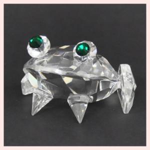 フェイククリスタルガラス製のミニオブジェ/カエル|sshana