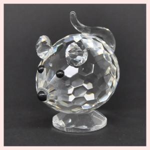 フェイククリスタルガラス製のミニオブジェ/マウス|sshana