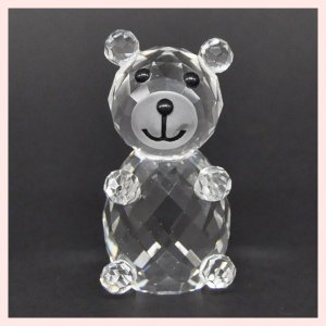 フェイククリスタルガラス製のミニオブジェ/ベア|sshana