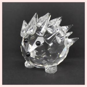 フェイククリスタルガラス製のミニオブジェ/ヘッジホッグ|sshana