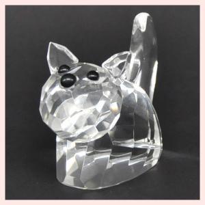 フェイククリスタルガラス製のミニオブジェ/キャット|sshana