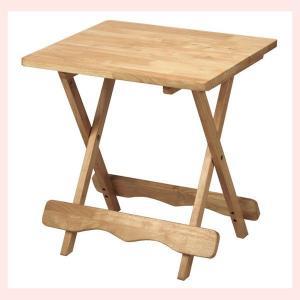 『ラバーウッド』折りたたみ式テーブル(角B)|sshana