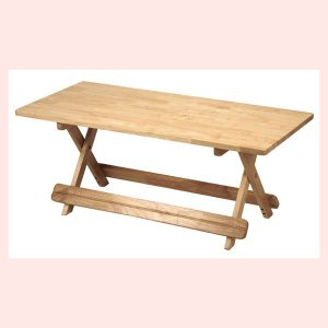 『ラバーウッド』折りたたみ式テーブル(角C)|sshana
