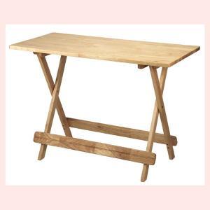 『ラバーウッド』折りたたみ式テーブル(角D)|sshana