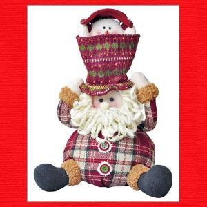 『クリスマス』スノーマンインザハットサンタのおもちゃ|sshana