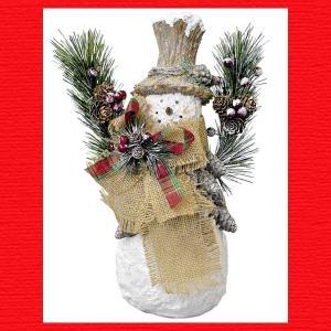 『クリスマス』レジン製パインコーンスノーマン|sshana