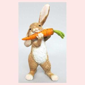 レジン製ウサギのミニオブジェ(フルート)|sshana