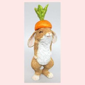 レジン製ウサギのミニオブジェ(ハット)|sshana