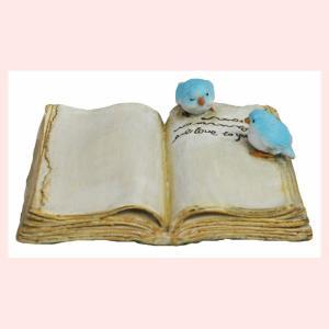 レジン製バードの置物ミニ(BOOKカップル)|sshana