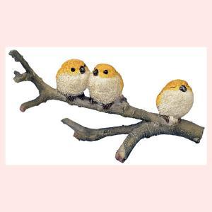 レジン製のオブジェ/小鳥ファミリー(枝)|sshana