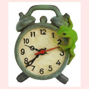 レジン製カエルのミニオブジェ(置時計)|sshana