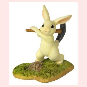 レジン製ウサギのミニオブジェ(開拓)|sshana