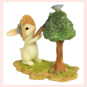 レジン製ウサギのミニオブジェ(お手入れ)|sshana