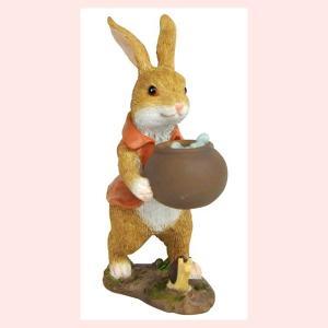 レジン製ウサギのミニオブジェ(水やり)|sshana