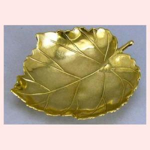 ブラス(真鍮)の葉型灰皿/大(6Pセット)|sshana