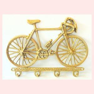 ブラス(真鍮)の自転車をモチーフにしたキーフック|sshana