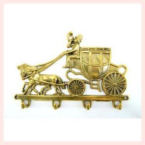 ブラス(真鍮)の馬車をモチーフにしたキーフック|sshana