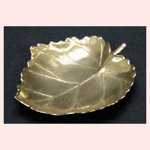 ブラス(真鍮)の葉型灰皿/小(1ダースセット)|sshana