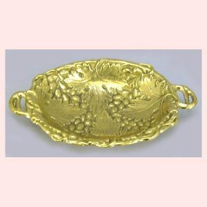 ブラス(真鍮)のトレー/手付きオーバル|sshana