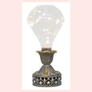 アンティーク調なシャビーLEDライト/ダイヤモンド|sshana