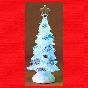 『クリスマス』アクリル製回転LEDキャンディツリー|sshana