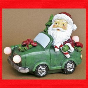 『クリスマス』レジン製LEDカーサンタ|sshana