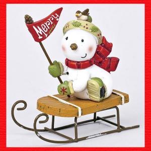 『クリスマス』レジン製マジパン調スノーマン(スレー)|sshana